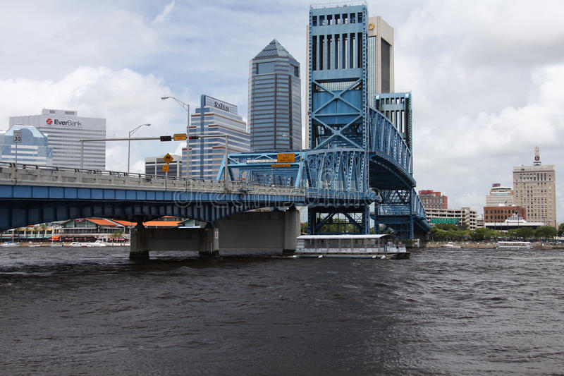 Jacksonville city. Downtown of Jacksonville city Florida stock images