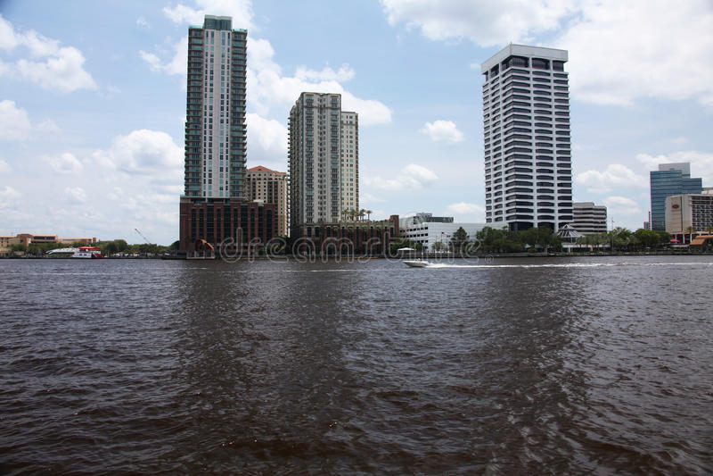 Jacksonville city. Downtown of Jacksonville city Florida stock photo