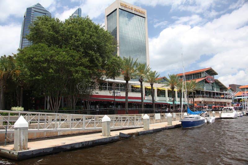 Jacksonville city. Downtown of Jacksonville city Florida royalty free stock photo