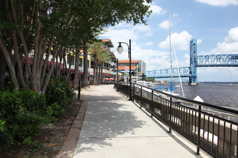 Jacksonville city. Downtown of Jacksonville city Florida royalty free stock image