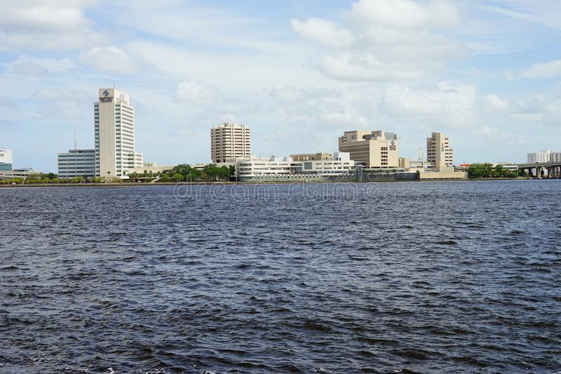 Jacksonville City and st johns river stock image