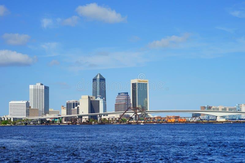 Jacksonville City and st johns river. Landscape of Jacksonville city and st johns river in Florida, USA royalty free stock photo