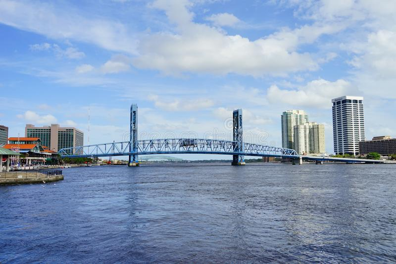 Jacksonville City and st johns river royalty free stock photo