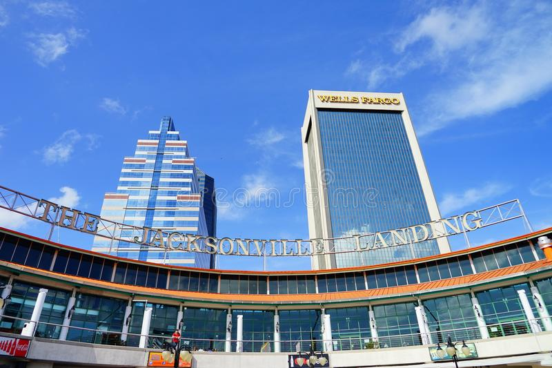 Jacksonville downtown building. A beautiful building taken in Jacksonville, florida stock image