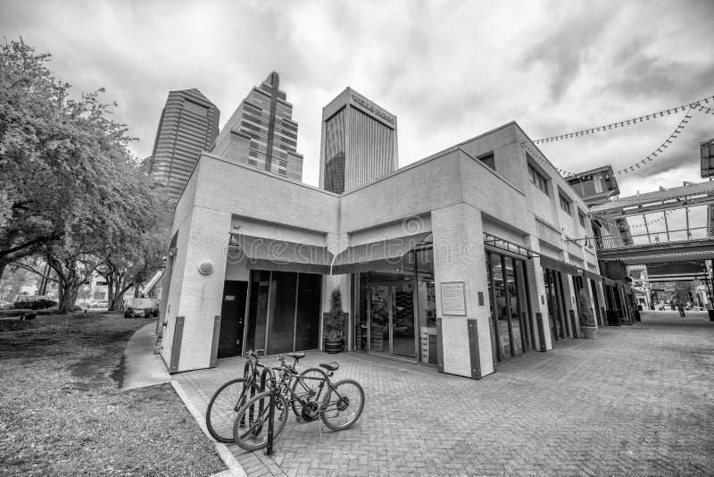 JACKSONVILLE, FL - 8 DE ABRIL DE 2018: Calles de la ciudad adentro céntricas gato imágenes de archivo libres de regalías
