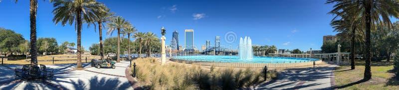 JACKSONVILLE, FL - FEBRUARY 2016: Panoramic view of city skyline royalty free stock photo