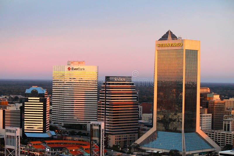 Jacksonville Fl linia horyzontu zdjęcia stock