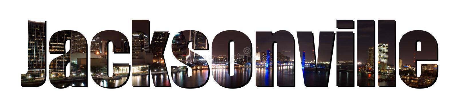 Jacksonville Florida stock illustratie