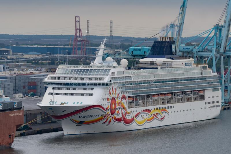 Norwegian Cruise Line docked Jacksonville Florida. royalty free stock photography