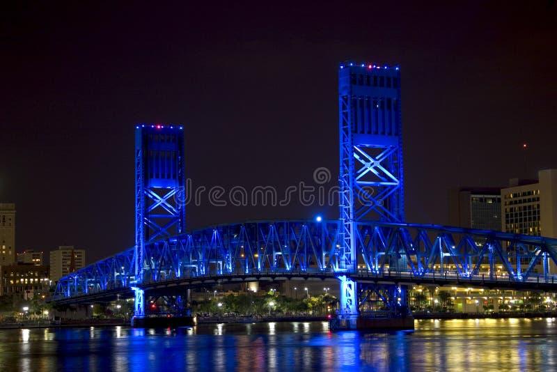 Jacksonville, Florida blue bridge royalty free stock photo