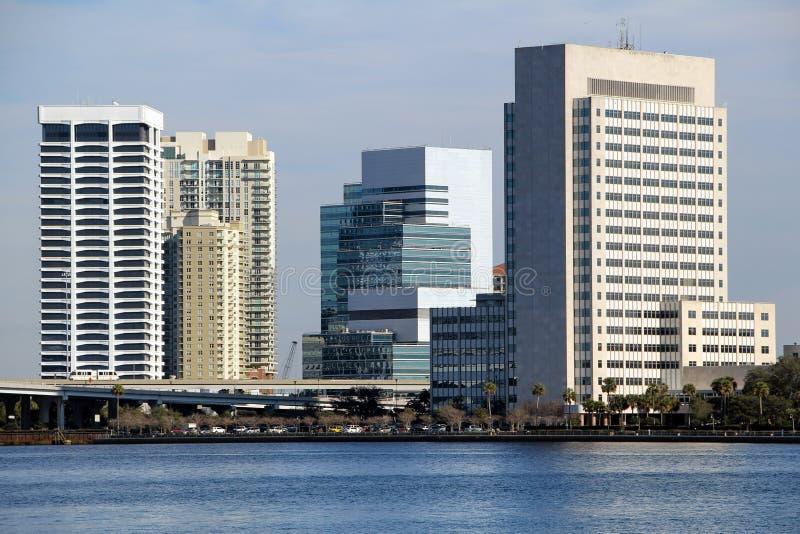 Jacksonville Florida horisont fotografering för bildbyråer