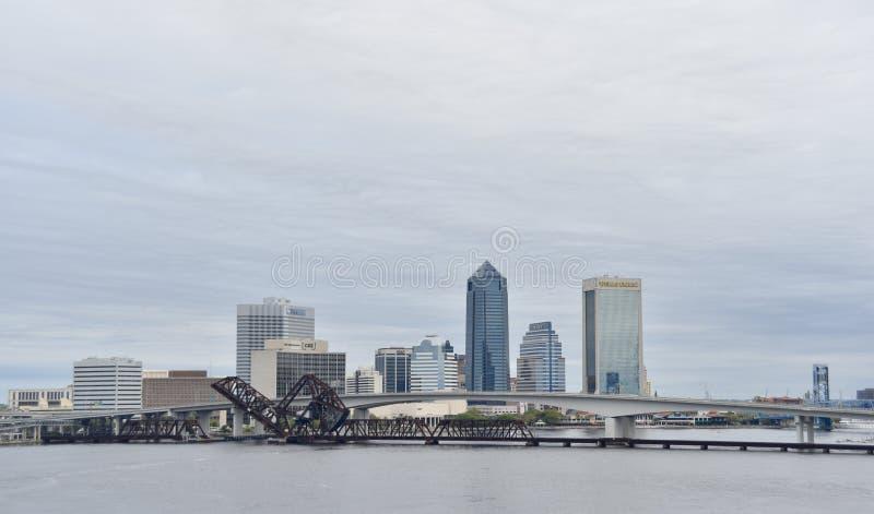 Jacksonville Florida i city fotografering för bildbyråer