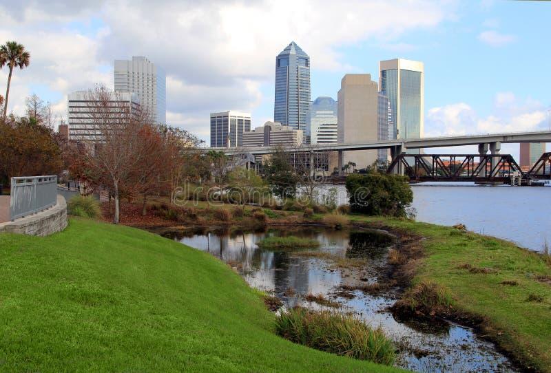 Jacksonville, Florida skyline. Long the St Johns River, as seen from Riverside stock photos