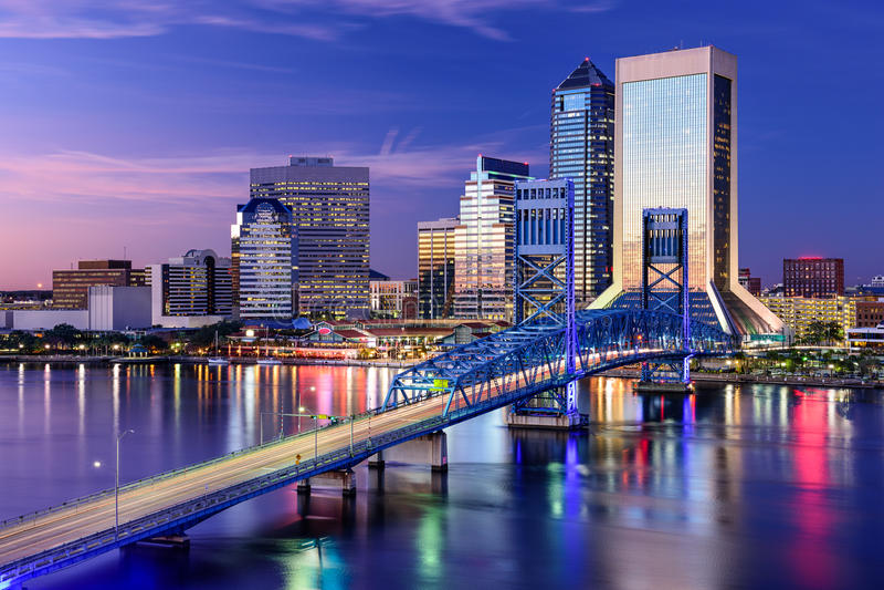 Jacksonville, Florida Skyline stock image