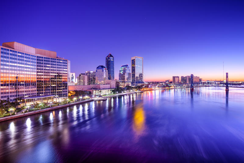 Jacksonville, Florida Skyline stock photos