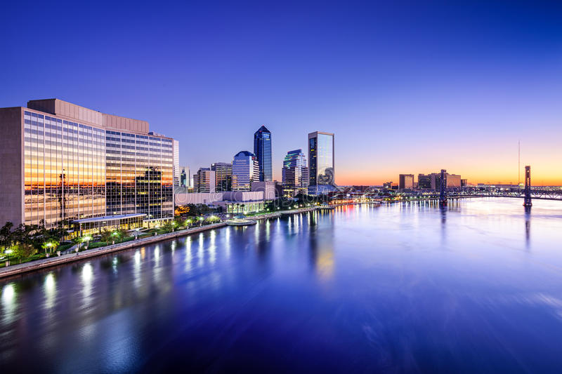 Jacksonville, Florida Skyline royalty free stock photo