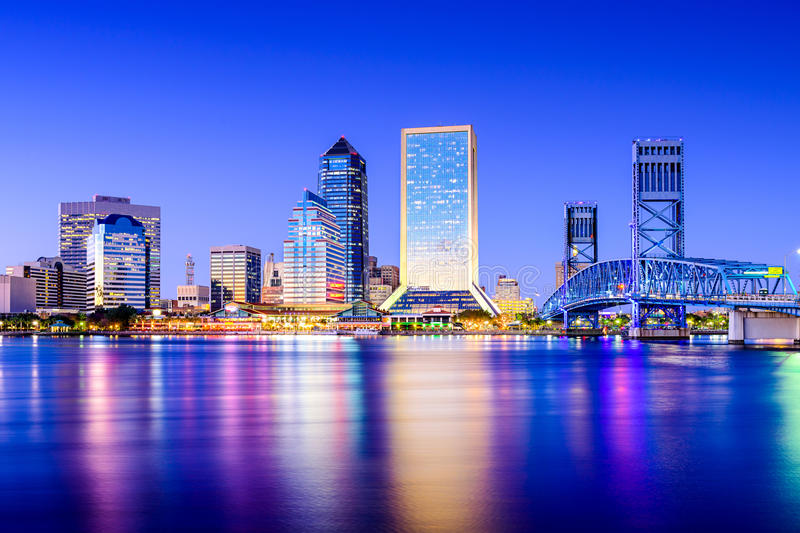 Jacksonville, Florida Syline royalty free stock photo