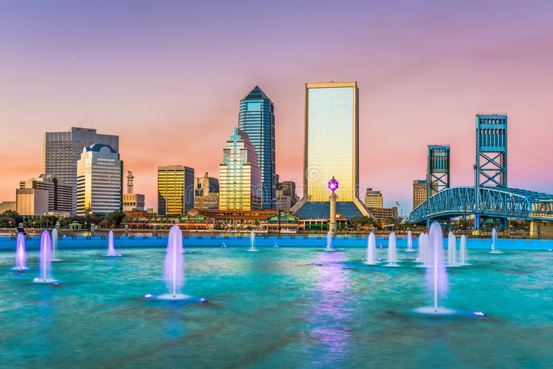 Jacksonville, Florida, USA Skyline royalty free stock photos