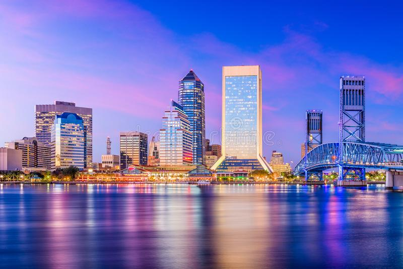 Jacksonville, Florida, USA Skyline stock photos