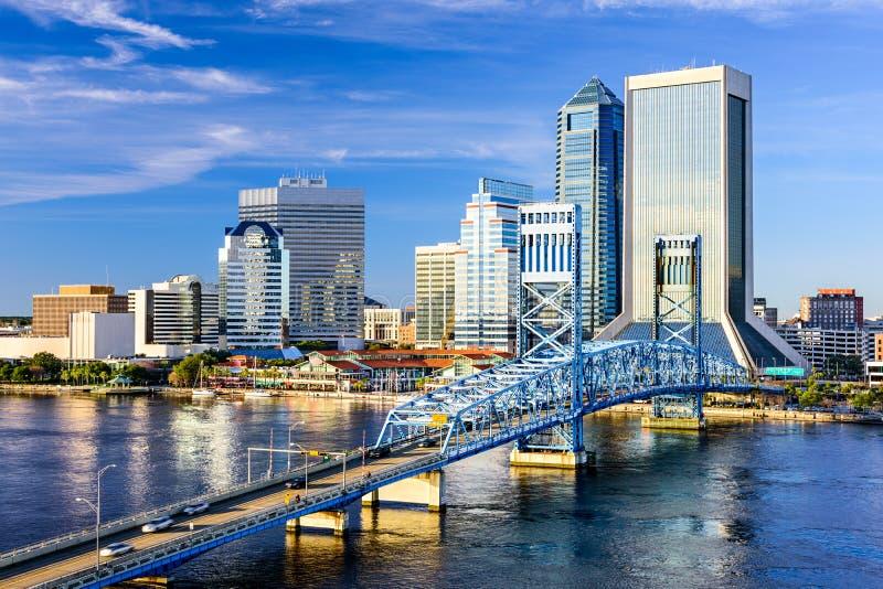 Jacksonville, Floryda linia horyzontu fotografia royalty free