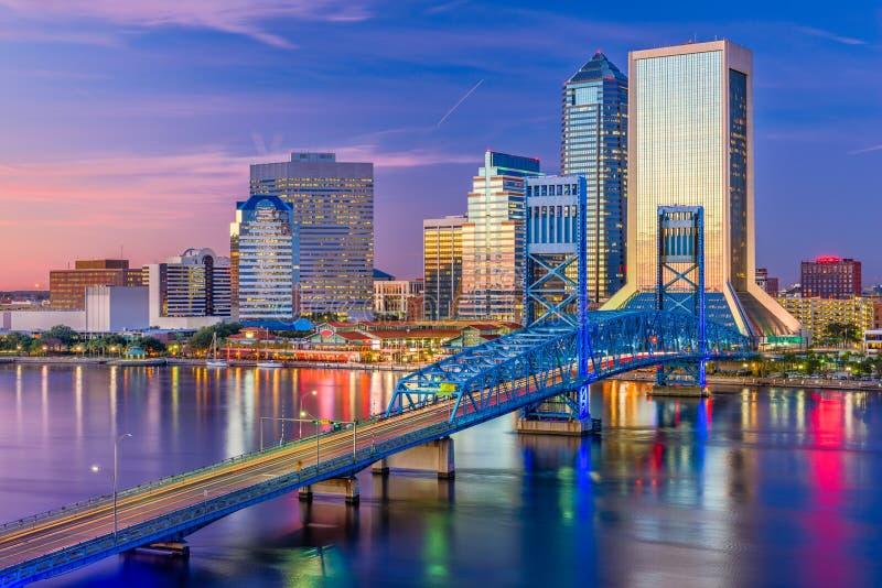 Jacksonville, Floryda, usa linia horyzontu fotografia royalty free