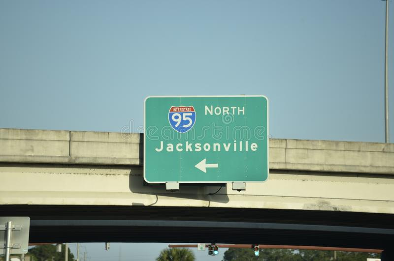 Jacksonville la Floride Intersate images stock