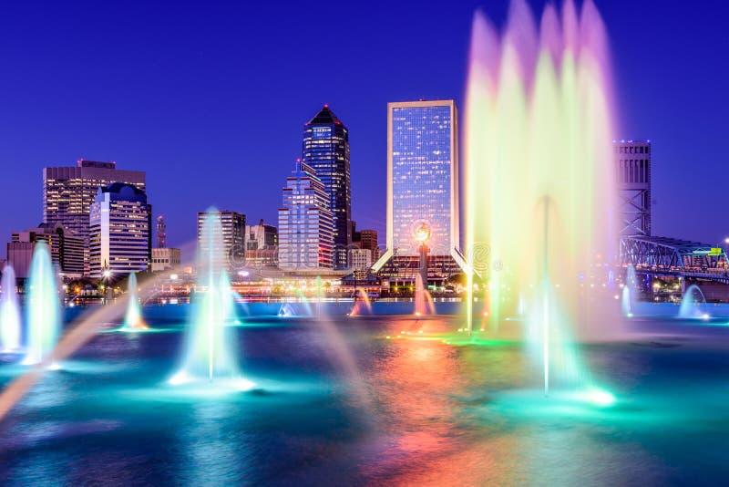 Jacksonville Linia horyzontu Floryda zdjęcia stock