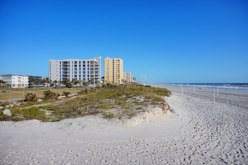 Jacksonville-Meerblickhotel stockbilder
