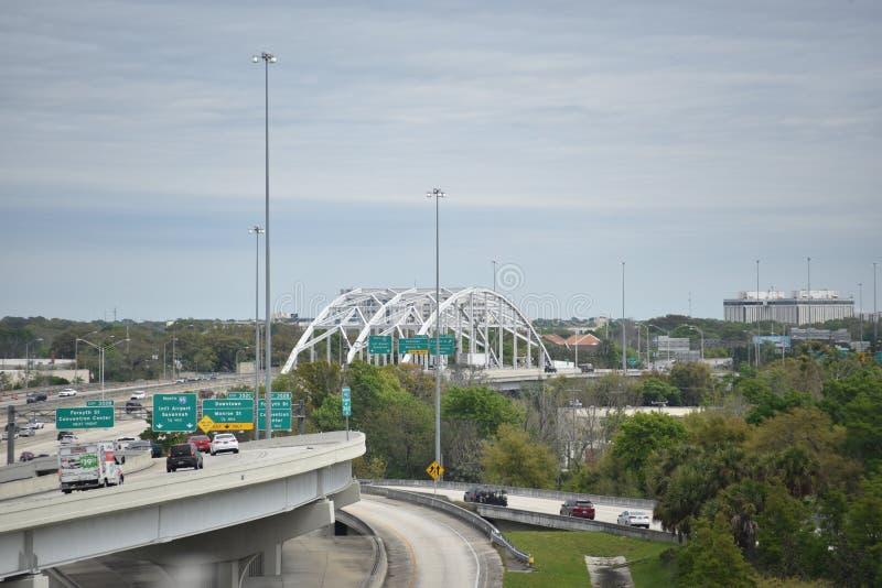 Jacksonville, Florida Expressway Traffic stock photography