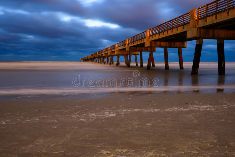 Jacksonville Pier royalty free stock image