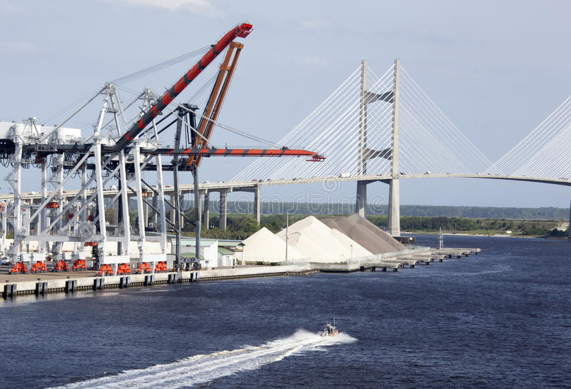 Jacksonville Port stock image