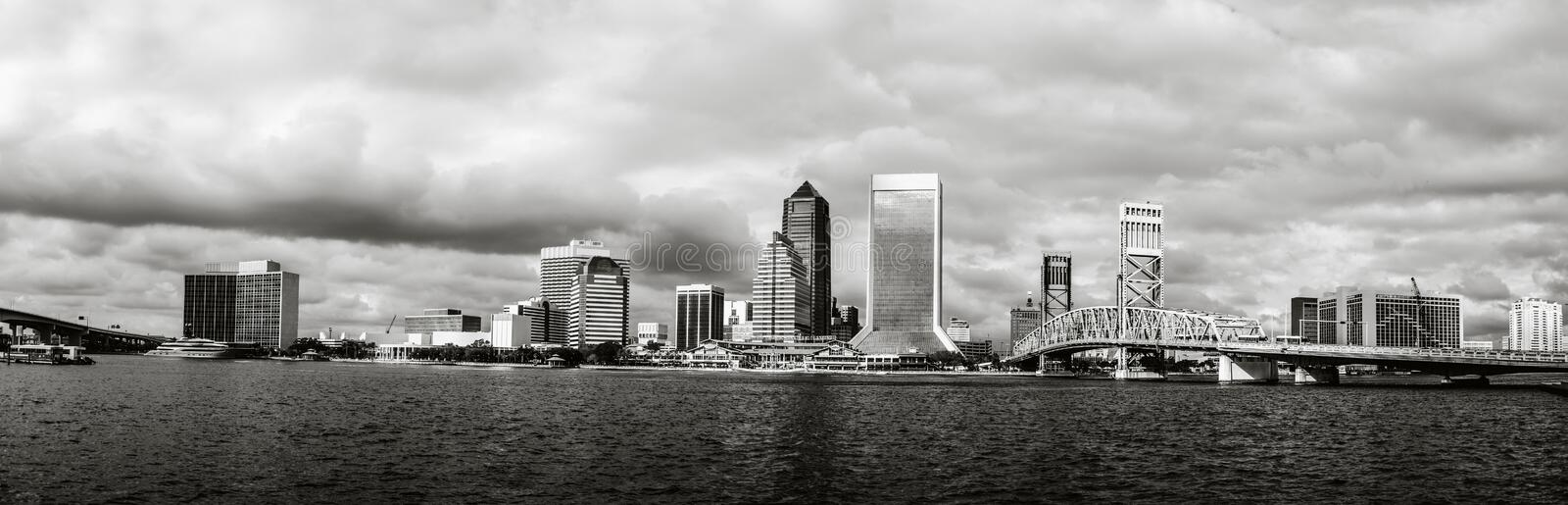 Jacksonville Skyline in Florida royalty free stock images