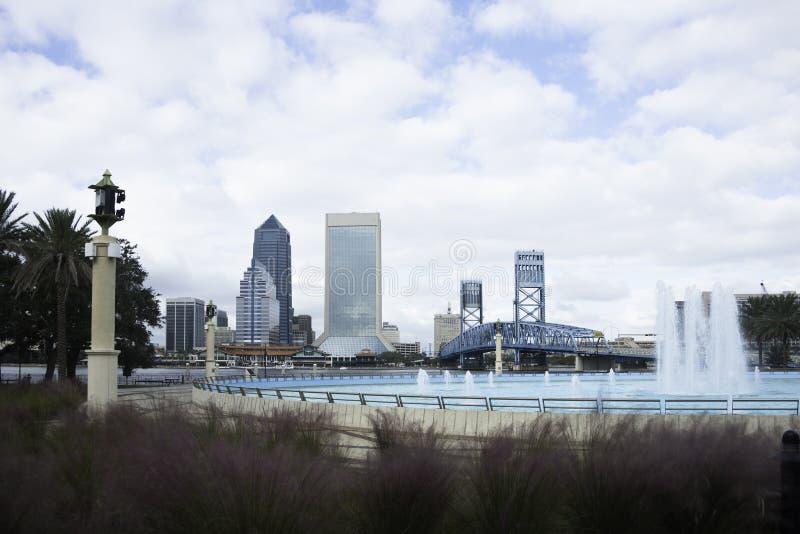 Jacksonville Skyline in Florida stock images