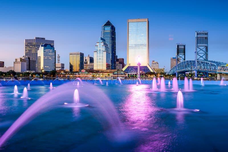 Jacksonville Skyline royalty free stock image