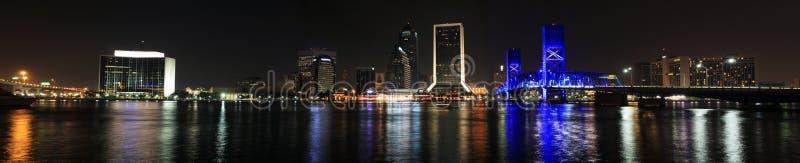 Jacksonville-Skyline nachts stockfoto