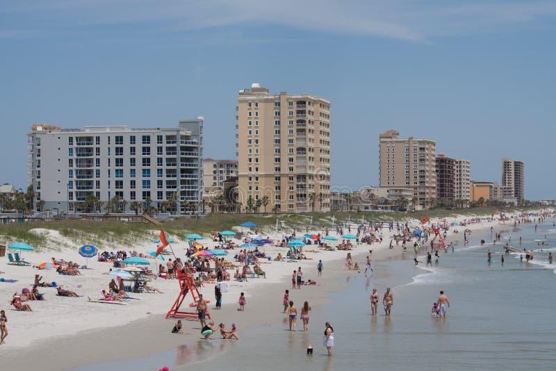 Jacksonville strand royaltyfri bild
