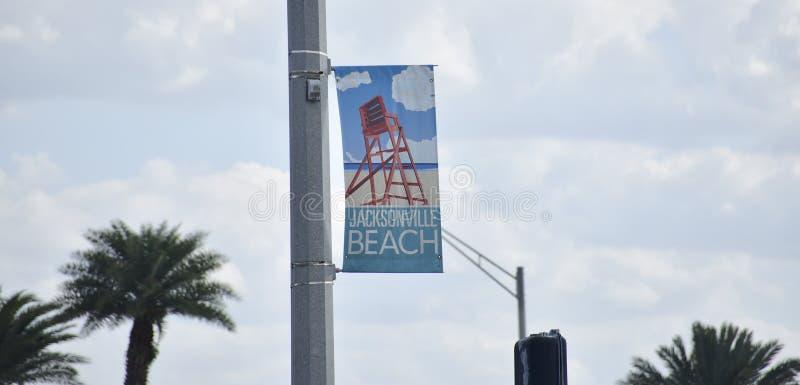 Jacksonville strand, Duval County Florida royaltyfri foto