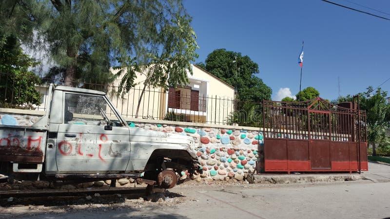 Jacmel hus Haiti arkivbild