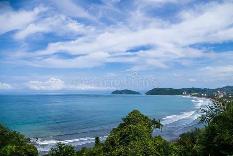 Jaco海滩在哥斯达黎加 免版税库存照片