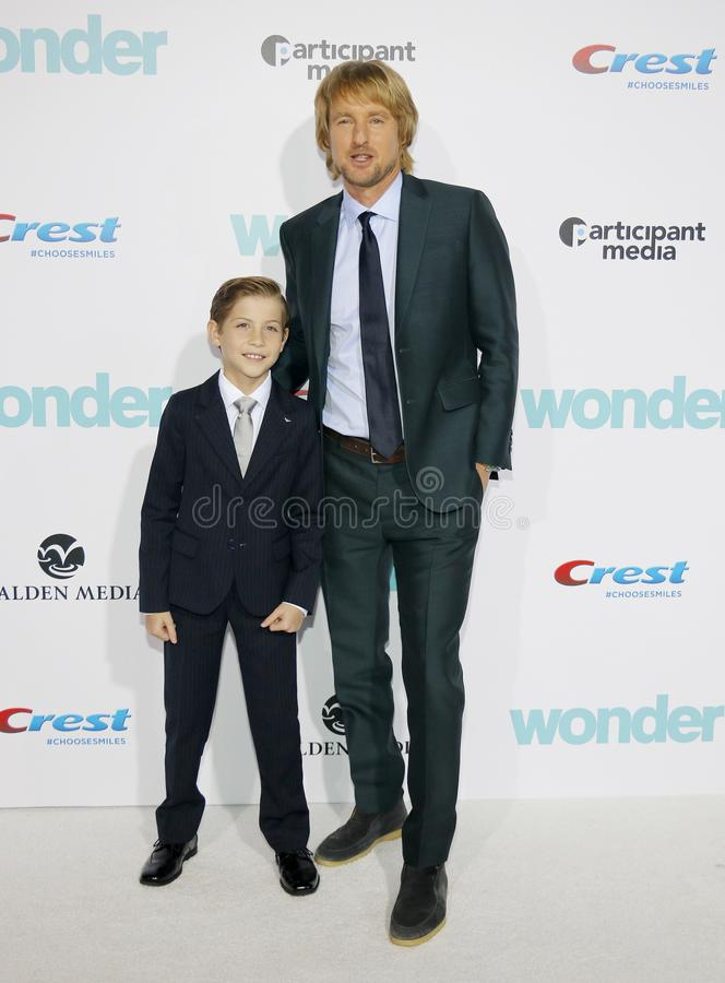 Jacob Tremblay et Owen Wilson photos stock