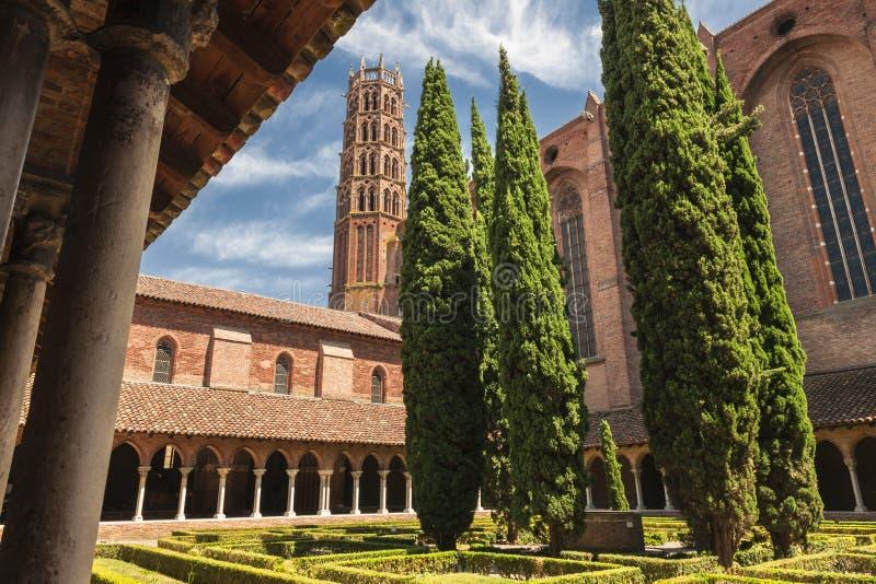 Jacobin女修道院在图卢兹 免版税库存照片
