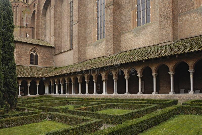 Jacobins教会修道院在图卢兹, 库存照片