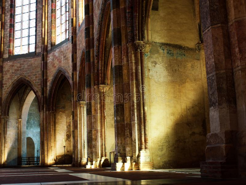 Jacobins的教会在图卢兹 免版税库存图片