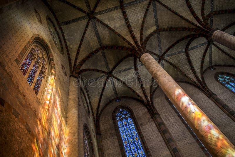 Jacobins的教会在图卢兹 免版税图库摄影