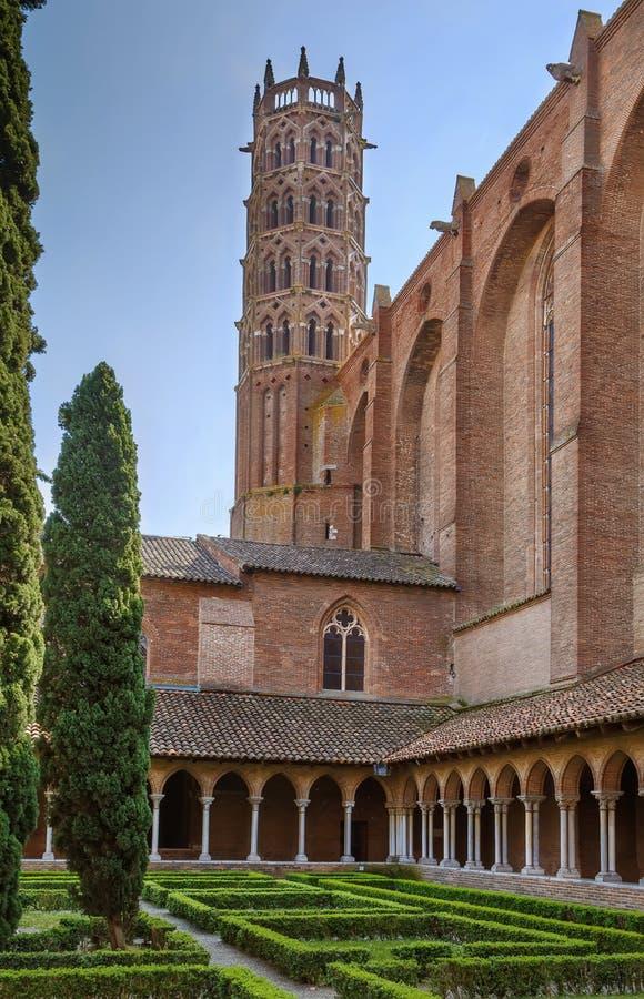 Jacobins的教会,图卢兹,法国 免版税图库摄影