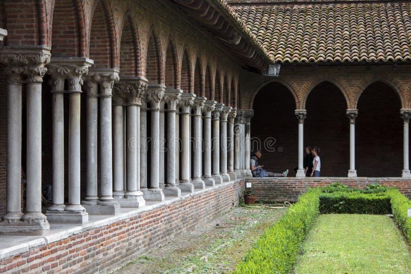 Jacobins的教会,图卢兹,法国 免版税库存图片
