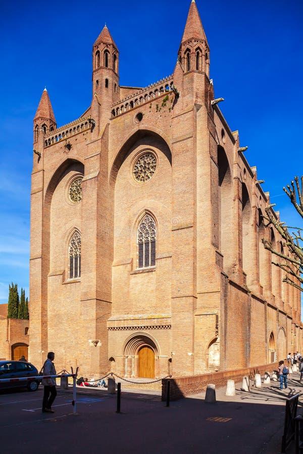 Jacobins的教会,图卢兹 库存图片
