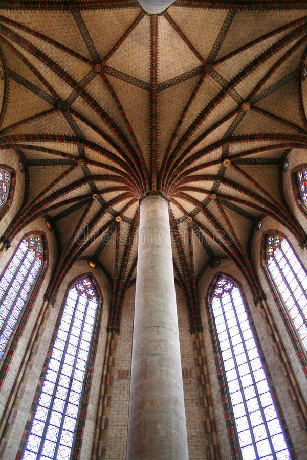 Jacobins Church, Ceiling, Toulouse, France stock image
