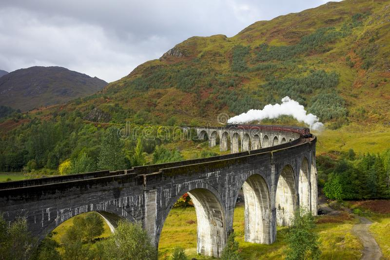 The Jacobite steam Locomotive stock images