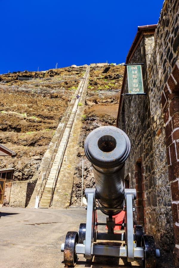 Jacobs梯子大炮圣赫勒拿 库存照片